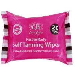 Cocoa Brown Face amp Body Self Tanning Wipes 20 stk