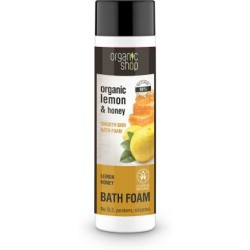 Organic Shop Organic Lemon amp Honey Bath Foam 500 ml