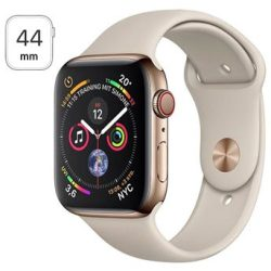 Apple Watch Series 4 LTE MTX42FD A Rustfrit Stål Sportsrem 44mm