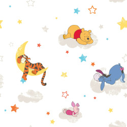 Kids at Home tapet Pooh Rise and Shine hvid DF70799