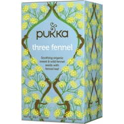 Pukka Three Fennel Tea Oslash ko 20 breve