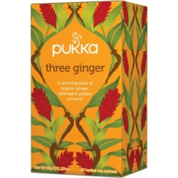 Pukka Three Ginger Tea Oslash ko 20 breve