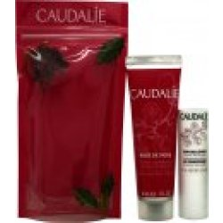 Caudalie Rose de Vigne Gavesæt 30ml Hand Nail Cream 4.5g Lip Conditioner