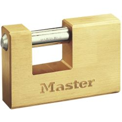 Master Lock forstærket hængelås massiv messing 85 mm 608EURD